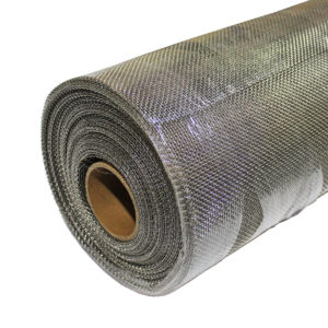 8 LPI stainless steel rodent mesh 0.71mm wire 2.47mm hole 45 degree angle image