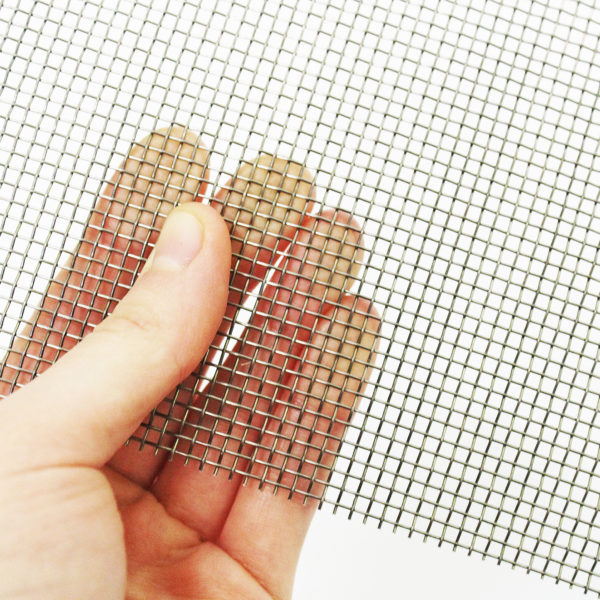 Stainless steel rodent mesh 12 LPI 0.56mm wire 1.56mm hole image