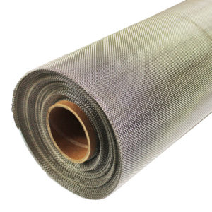 stainless steel rodent mesh 12 LPI 0.56mm wire 1.56mm hole full roll 45 degrees