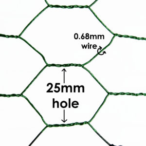 Green PVC Chicken Mesh 25mm Hole 0.68mm Wire Image