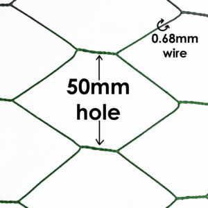 Green PVC Chicken Mesh 50mm Hole 0.68mm Wire Image